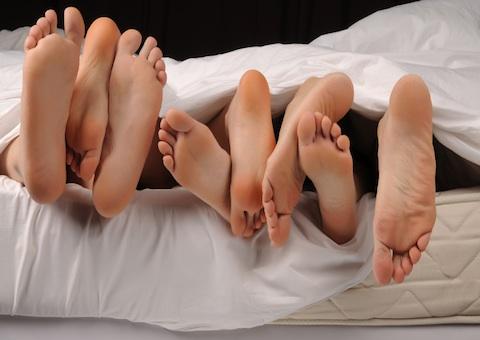 bed foot fetish partner